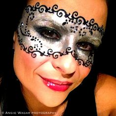 Masquerade fun with makeup.  Much more comfortable than a mask!