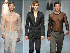 Sheer on the runway, mens fashion