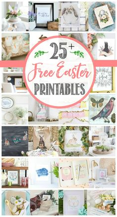 Free Easter printables and beautiful Easter decor ideas.  Simple Easter decorating!