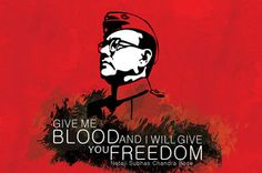 Amore Give Me Blood And I Will Give You Freedom Poster