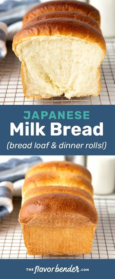 The softest, & milkiest Japanese milk bread, that will make the best sandwiches or dinner rolls! Learn step by step how to make the perfect milk bread loaf. #TheFlavorBender #BreadRecipes #DinnerRolls #Tangzhong #JapaneseMilkBread