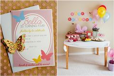 butterfly birthday party ideas | Miss Indie: Pretty Party // Little Butterfly Tea Party