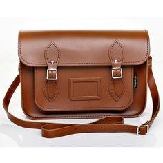 Zatchels Leather Satchel (270 BRL) ❤ liked on Polyvore featuring bags, handbags, leather satchel, leather satchel purse, brown leather purse, genuine leather handbags and brown leather satchel