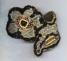 Bead Embroidery Beadwork Bracelet . Brocade by enchantedbeads