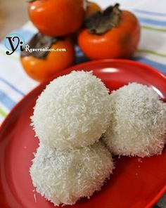 Sweet Coconut Mochi dessert http://yireservation.com/recipes/sweet-coconut-mochi/