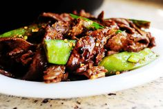 Beef with Snow Peas | The Pioneer Woman Cooks | Ree Drummond - made this twice, awesome, I don't use ginger though, not a fan