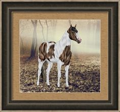 Horse Framed Print featuring the digital art In The Mist by Sally Lannier