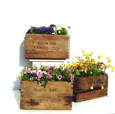 Vintage Wooden Crate Rustic Wood Box Garden by OceansideCastle, $56.00