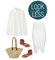 There's something just so chic about a white on white outfit. Maybe it's  the bravery that it takes to wear it in the first place. I feel like a risk  taker even throwing on a white tee most days, envisioning spilling my  coffee while running out the door or having grape juice dribbled on it  during a sloppy kiss from one of my kiddos. Or maybe it's the fact that  this lookreminds me of a warm, sunny day. I mean, how could you not feel  like you're on vacation toting around that beautiful…