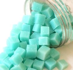 Large Jar of Goat's Milk Soap Bit Wipe Solution Cubes - Choose your scent - 70 pieces in a resealable container on Etsy, $12.50