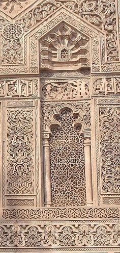 Middle Eastern wood carving mosaic patterns