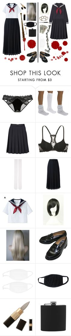 """Sukeban"" by yandereotaku ❤ liked on Polyvore featuring Victoria's Secret, Nana', Wood Wood, Marieyat, Comme des Garçons, GAS Jeans, Switchblade Stiletto and Natico"