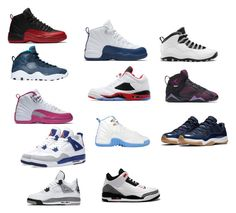 """shoes i would wear"" by mynameisyaya ❤ liked on Polyvore featuring NIKE and Jordan Brand"