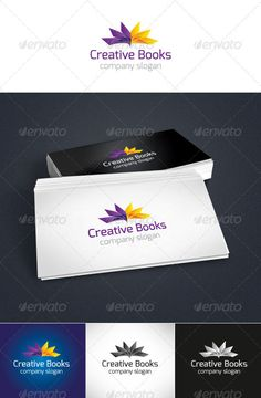 Creative Books  - Logo Design Template Vector #logotype Download it here: http://graphicriver.net/item/creative-books-logo/3719358?s_rank=1079?ref=nexion