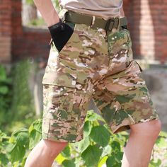 Buy Summer Men's Camouflage Loose Cargo Tactical Shorts Outdoor Sports Hunting Camping Climbing Training Knee Length Short Trousers at sporty16.com! Free shipping to 185 countries. 45 days money back guarantee.      #shorthairstyles #mensoutfits #hiking Climbing Outfits, Rock Climbing Gear, Knee Length Shorts, Casual Skirt Outfits, Hipsters, Ladies Dress Design, Camouflage, Countries, Hunting