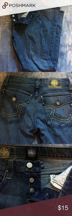 Rock & Republic men's 33 jeans Lightly worn, lightly washed, size 33 Rock & republic men's jeans. Offers accepted! 👌🏻😌 Rock & Republic Jeans Slim Straight