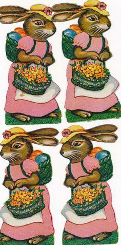 ORIGINAL Oblaten DIE CUT SCRAPS Ostern Easter 4 x Osterhase rabbit Die Cutting, Rabbit, Scrap, The Originals, Ebay, Paper, Easter Bunny, Easter, Rabbits