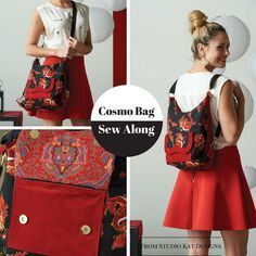 Join in for a few finishing touches on the versatile Cosmo bag from StudioKat Designs!  #‎sewnews #‎sewalong