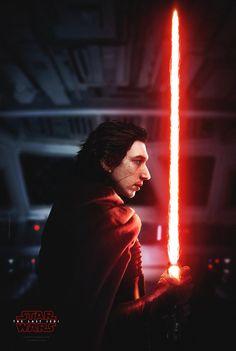 Kylo Ren fan poster, Star Wars Episode VIII the Last Jedi, Sci-Fi, movie