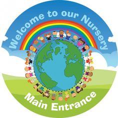 01 Circular Nursery Welcome Wall Sign - WELCOME SIGNS | School Signs, Nursery Signs, Whiteboards, Safety Signs - Upson Downs