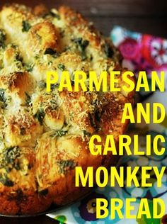 Parmesan and garlic monkey bread (pull apart bread!)