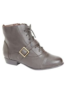 Roamans Plus Size Daria Leather Lace-Up Bootie by Comfortview (BROWN,11 M) $144.99