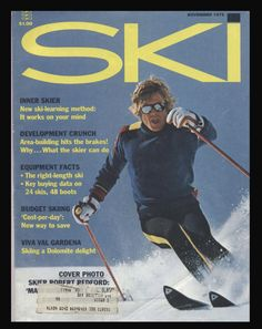 Robert Redford skiing.