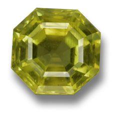 Golden Green Asscher-Cut Apatite from GemSelect 'Gem of the Day' - #gemselect