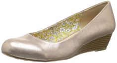 CL by Chinese Laundry Women's Marcie Metal Fros Wedge Pump, Champagne, 10 M US