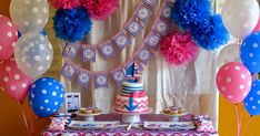 A nautical party with beautiful elements for a sweet little girl turning Melissa is one of my oldest clients. This time we are celebrati. Nautical Party, Girl Birthday, Turning, Little Girls, Sweet, Beautiful, Candy, Toddler Girls, Wood Turning