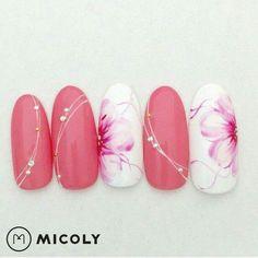 pink love nail art design - Sofia L. Manicure Nail Designs, Nail Manicure, Diy Nails, Cute Nails, Pretty Nails, Nail Art Designs, Glitter Manicure, Acrylic Nail Art, Nail Art Diy