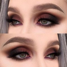 A smokey eye is one of the most classic makeup looks. At one time, women generally reserved their smokey eye looks for special occasions. However, smokey eyes are now an extremely popular eye makeup l Makeup Goals, Makeup Inspo, Makeup Inspiration, Makeup Ideas, Makeup Kit, Makeup Geek, Makeup Remover, Makeup Brushes, Skin Makeup