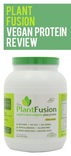 Pin for Later: The 11 Best Protein Powders You Can Buy Plant Fusion Vanilla Bean Protein Powder Reviews, Pea Protein Powder, Plant Based Protein Powder, Vegan Protein, Protein Foods, Protein Products, Whey Protein, High Protein, Vegan Products