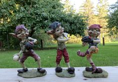 3 PIXIE BASEBALL PLAYERS ANTHONY FISHER PIXIES ELVES collectibles resin set new Labour Day, Pointed Ears, Vintage Candles, Shape And Form, Baseball Players, Felt Ornaments, Pixies, Christmas Elf, Little People
