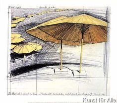 Christo und Jeanne-Claude - Umbrellas Yellow