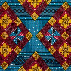 Tissu coton Wax bleu rose - Coton : popeline, voile et flanelle - MODE Mondial Tissus