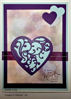Booked Background Heart Card by Shel's Cards - Cards and Paper Crafts at Splitcoaststampers