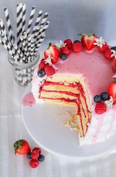 Pink Lemonade Berry Cake