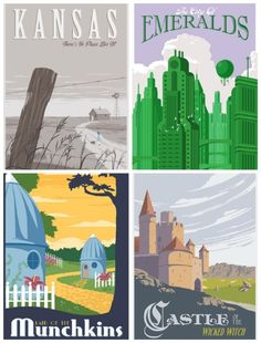 wizard of oz prints | If you're willing to splurge, these Wizard of Oz prints are gorgeous.