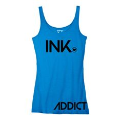Ink Addict Ink Tank Beater  Inked Tattoo Multiple Color Options Tattoo Supplies, Athletic Tank Tops, Ink, Boutique, Stylish, Tattoos, Clothes, Color, Women