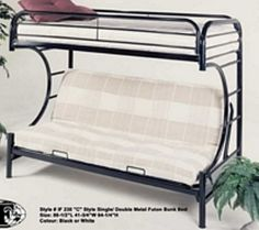 futon on the bottom, bunk bed
