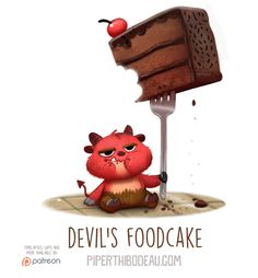 Daily+Paint+1558.+Devil's+Foodcake+by+Cryptid-Creations.deviantart.com+on+@DeviantArt