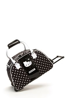 ideeli | HELLO KITTY Hello Kitty Dots Luggage Set. Hello Kitty Purse, Baby Friends, Miss Kitty, Backpack Purse, Betty Boop, Sanrio, Designer Collection, Purses, My Style
