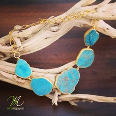 Nina Nguyen Designs Turquoise Necklace. Simply beautiful!