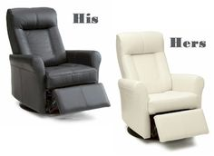 His and Hers recliners from Palliser Furniture available at Smitty's Furniture  wide choice of leather and colours