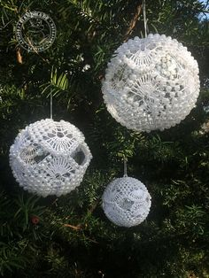 Crochet baubles with beads Christmas Tree decorations Wedding garland Table topper Hanging decoration balls Gift for her White ornament Christmas Tree Glitter, Crochet Christmas Ornaments, Christmas Crafts, White Ornaments, Quilted Ornaments, Christmas Tree Baubles, Christmas Tree Decorations, Garland Wedding, Wedding Decorations
