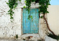 Old door in Paleochora