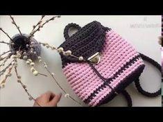 Рюкзак из трикотажной пряжи с жаккардовым узором. Торба. Вязание крючком. Backpack knitted of yarn - YouTube