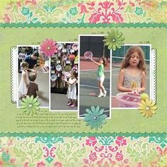 Image result for digital scrapbook layout ideas