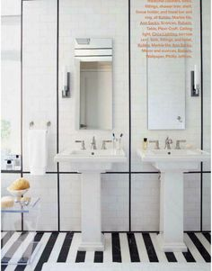 Love the double pedestal sink